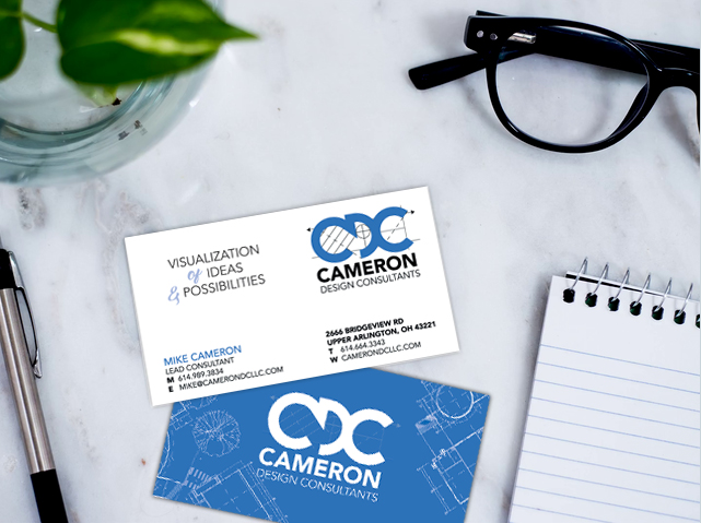 Cameron Design Consutants Business Cards Ndesign